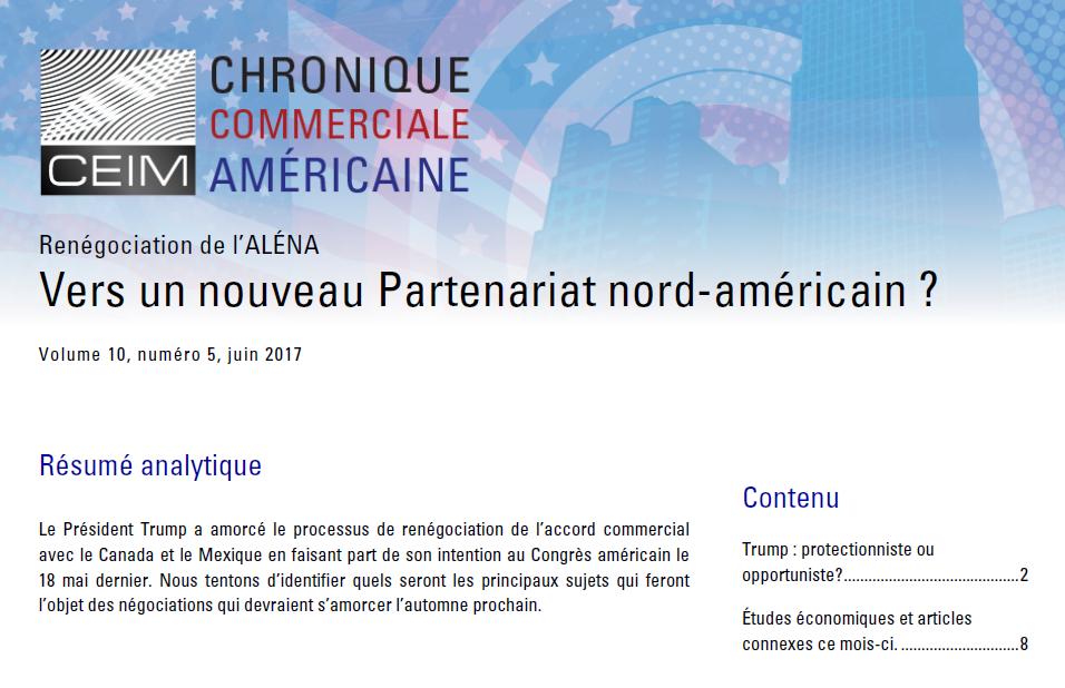 Vers un nouveau Partenariat nord-américain ?