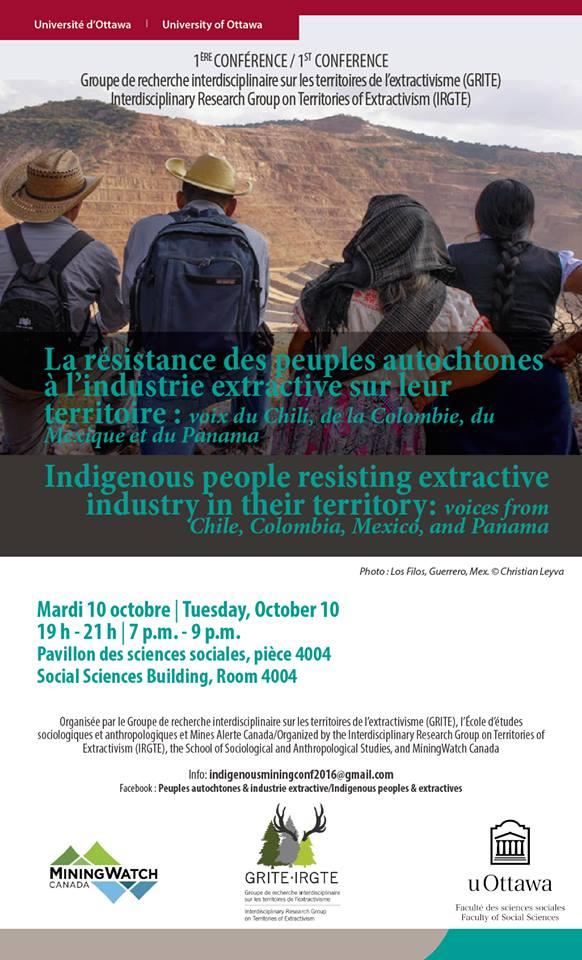 La résistance des peuples autochtones à l'industrie extractive sur leur territoire: voix du Chili, de la Colombie, du Mexique et du Panama