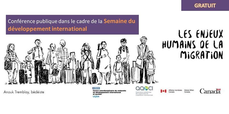 Conférence publique SDI 2018: Les enjeux humains de la migration
