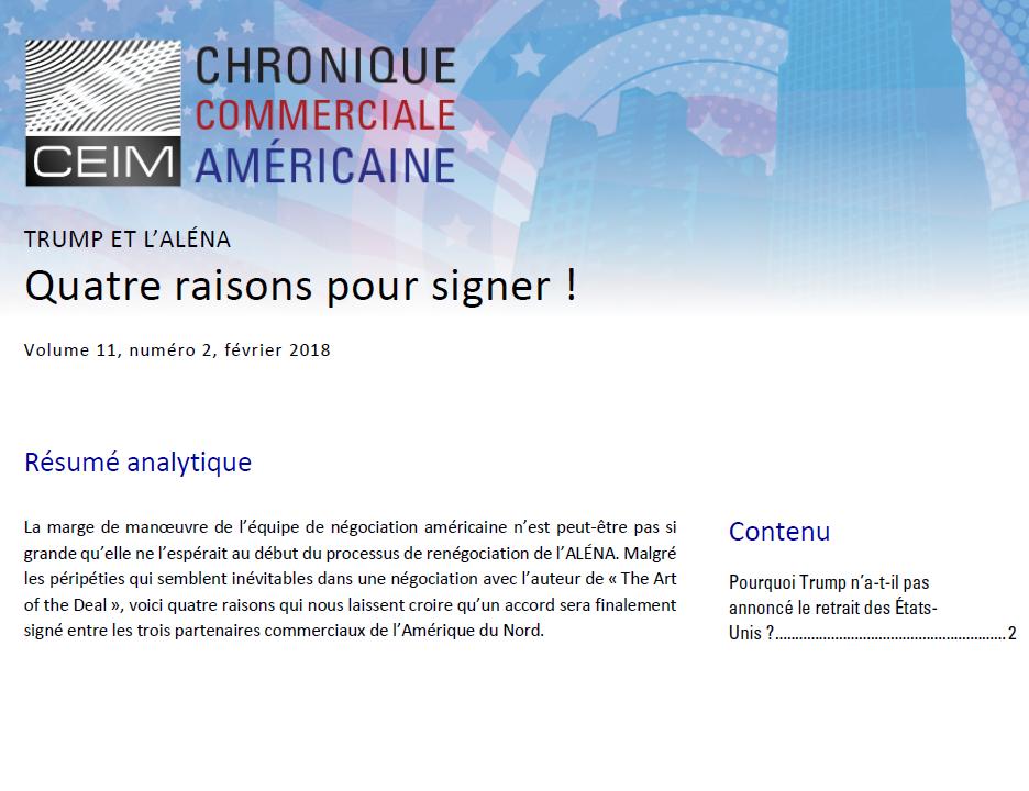 Quatre raisons pour signer !