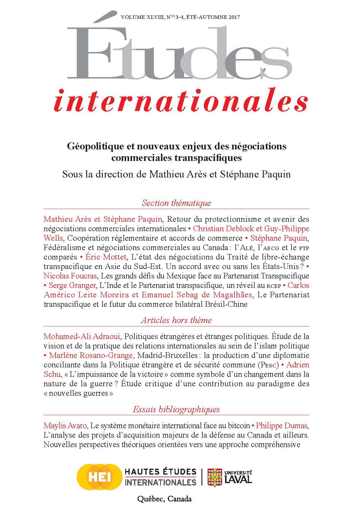 Géopolitique et nouveaux enjeux des négociations commerciales transpacifiques