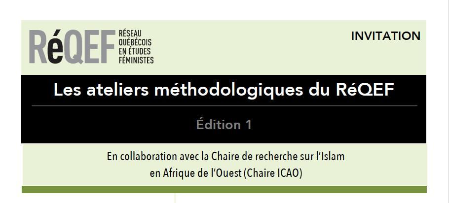 Les ateliers méthodologiques du RéQEF (Réseau québécois en études féministes)
