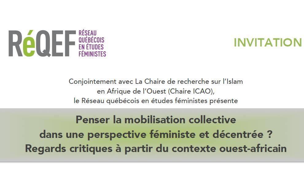 Penser la mobilisation collective dans une perspective féministe et décentrée? Regards critiques à partir du contexte ouest-africain