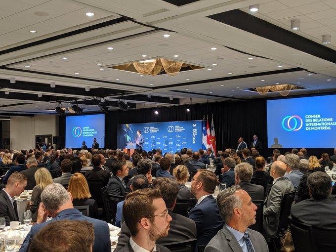 L'IEIM présent à la conférence de Justin Trudeau