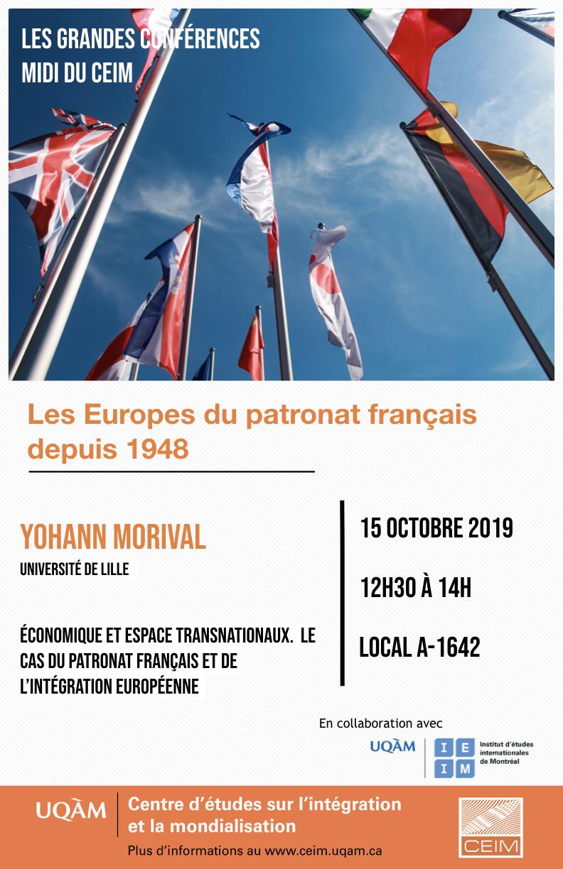 Les Europes du patronat français depuis 1948