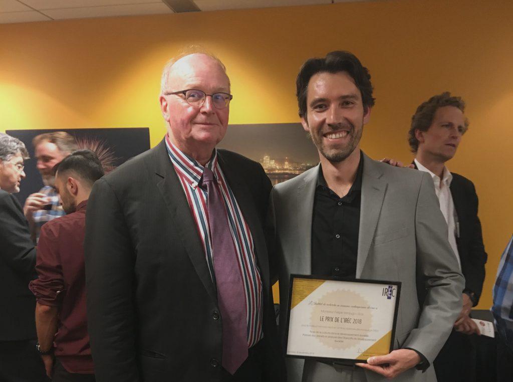 Félicitations à M.Felipe Verdugo-Ulloa pour le prix du meilleur mémoire de maîtrise en science politique