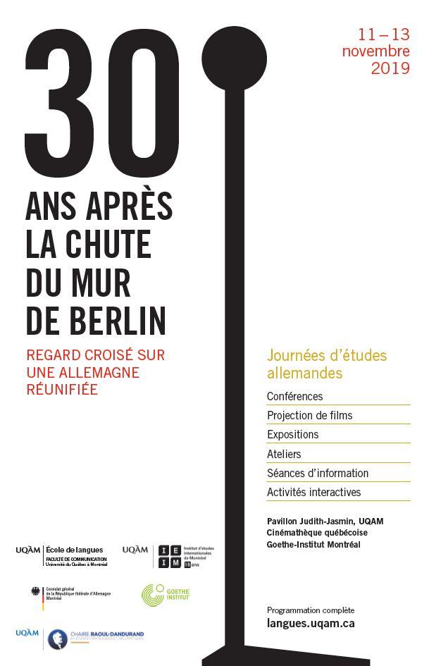 30 ans après la chute du mur de Berlin: regard croisé sur une Allemagne réunifiée