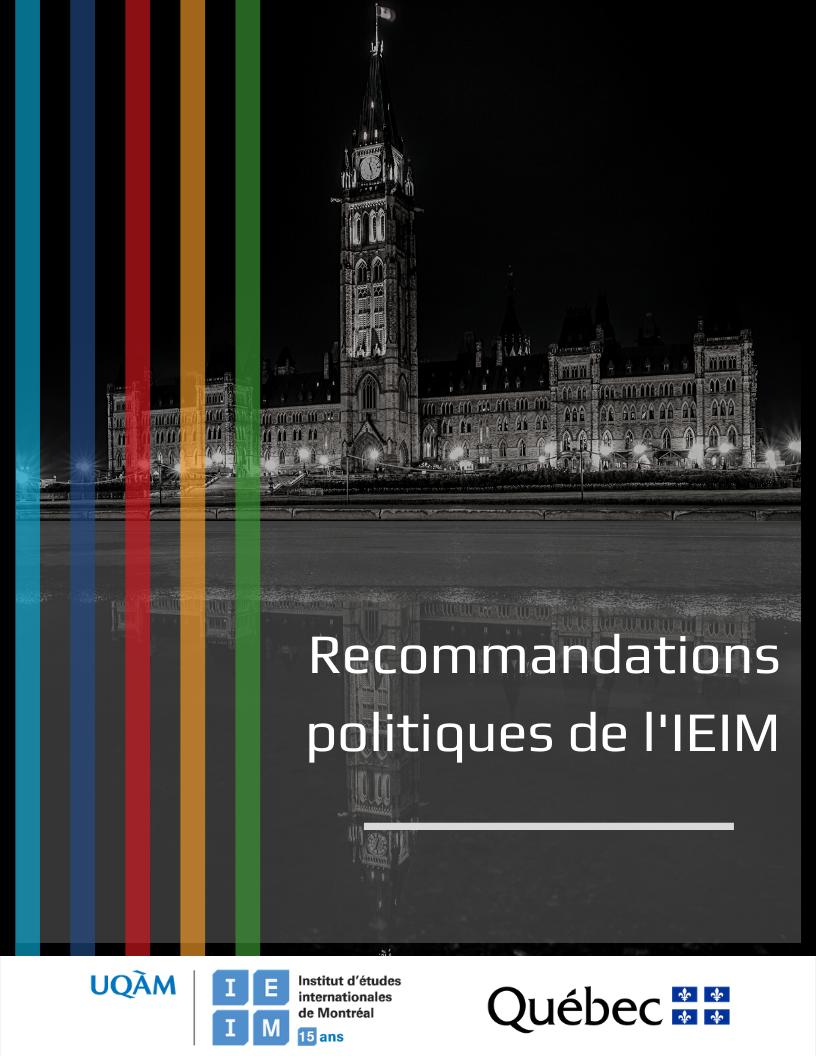 Lancement des recommandations politiques de l'IEIM