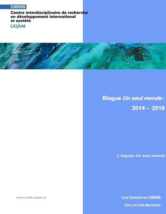 Blogue Un seul monde 2014-2018