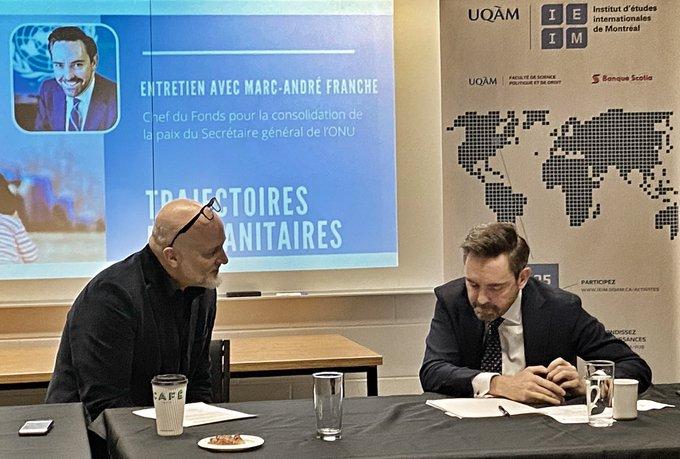 Retour sur l'entretien avec Marc-André Franche, chef du Fonds pour la consolidation de la paix du Secrétaire général de l'ONU