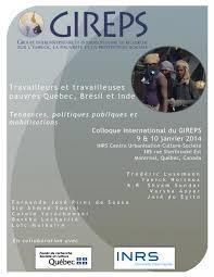 Colloque international «Travailleurs, travailleuses pauvres Québec-Brésil-Inde: Tendances, politiques publiques et mobilisations»