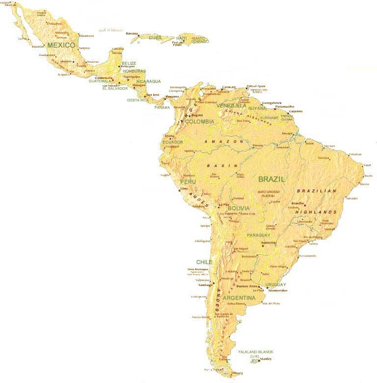 Carte Amerique Du Sud Et Amerique Centrale.Les Approches Postcoloniales De Droit International En Amerique